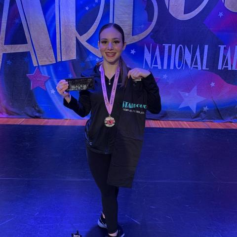 Jordan, 1st place overall teen solo at Starbound