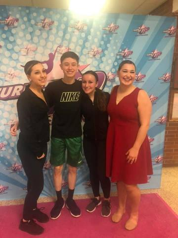 Alyssa, Shane, Cami and Eliana at Turn It Up